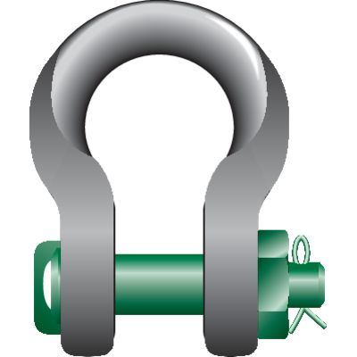 "P-6033 Harpsluiting MB ""Sling Shackle"" Green Pin"