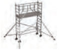 S-PLUS mobile scaffold tower with stabilisers, single platform width Z600 4
