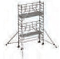 S-PLUS mobile scaffold tower with stabilisers, single platform width Z600 5