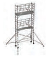 S-PLUS mobile scaffold tower with stabilisers, single platform width Z600 6