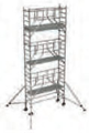 S-PLUS mobile scaffold tower with stabilisers, single platform width Z600 7