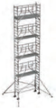 S-PLUS mobile scaffold tower with stabilisers, single platform width Z600 10