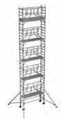 S-PLUS mobile scaffold tower with stabilisers, single platform width Z600 11