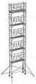 S-PLUS mobile scaffold tower with stabilisers, single platform width Z600 12