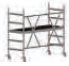 COMPACT folding scaffold unit, single and double platform width Z600 (low) 3