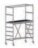 COMPACT folding scaffold unit, single and double platform width Z600 (low) 4