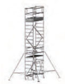 COMPACT folding scaffold unit, single and double platform width Z600 (high) 6