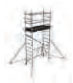 COMPACT folding scaffold unit, single platform Z500 (high) 3